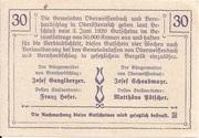30 Heller (Oberweissenbach und Bernhardschlag) -  reverse