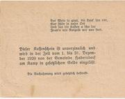 20 Heller (Oberweissenbach und Bernhardschlag) -  reverse