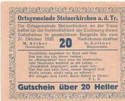 20 Heller (Steinerkirchen an der Traun) -  obverse