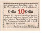 10 Heller (Schalchen) -  reverse