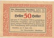 50 Heller (Schalchen) -  reverse