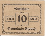 10 Heller (Aspach) -  reverse