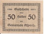 50 Heller (Aspach) -  reverse