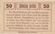 50 Heller (Aschbach) -  reverse
