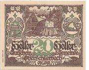 20 Heller (Oberschlierbach) – obverse
