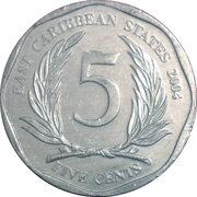 5 Cents - Elizabeth II (4th portrait) -  reverse