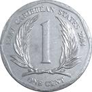 1 Cent - Elizabeth II (4th portrait) – reverse