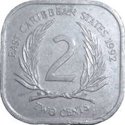 2 Cents - Elizabeth II (2nd portrait) -  reverse