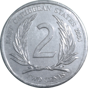 2 Cents - Elizabeth II (4th portrait) -  reverse