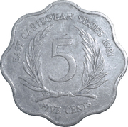 5 Cents - Elizabeth II (2nd portrait) – reverse