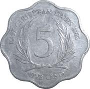 5 Cents - Elizabeth II (2nd portrait) -  reverse