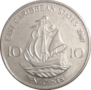 10 Cents - Elizabeth II (4th portrait) – reverse