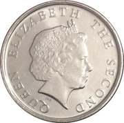 10 Cents - Elizabeth II (4th portrait; magnetic) – obverse