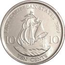 10 Cents - Elizabeth II (4th portrait; magnetic) – reverse