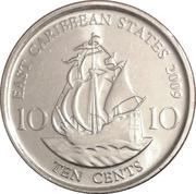 10 Cents - Elizabeth II (4th portrait; magnetic) -  reverse