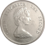 25 Cents - Elizabeth II (2nd portrait) – obverse