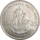 25 Cents - Elizabeth II (2nd portrait) – reverse