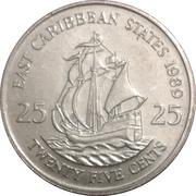 25 Cents - Elizabeth II (2nd portrait) -  reverse
