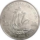 25 Cents - Elizabeth II (4th portrait) – reverse