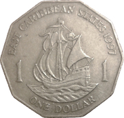 1 Dollar - Elizabeth II (2nd portrait) -  reverse
