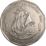 1 Dollar - Elizabeth II (4th portrait; non-magnetic) -  reverse