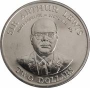 2 Dollars - Elizabeth II (Sir Arthur Lewis) – reverse