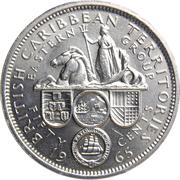 50 Cents - Elizabeth II (1st portrait) – reverse