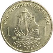 1 Dollar - Elizabeth II (2nd portrait) – reverse
