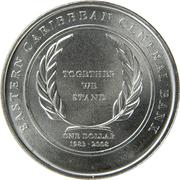 1 Dollar - Elizabeth II (Central Bank) -  reverse