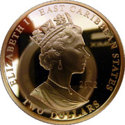 2 Dollars - Elizabeth II (Duke of Wellington) – obverse