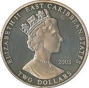 2 Dollars - Elizabeth II (Winston Churchill) – obverse