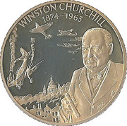 2 Dollars - Elizabeth II (Winston Churchill) – reverse
