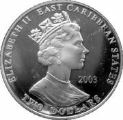 2 Dollars - Elizabeth II (Sir Francis Drake) – obverse