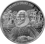 2 Dollars - Elizabeth II (Sir Francis Drake) – reverse