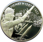 2 Dollars - Elizabeth II (King Henry V) – reverse
