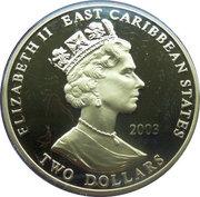 2 Dollars - Elizabeth II (Robert Clive) – obverse