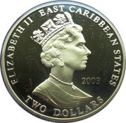 2 Dollars - Elizabeth II (Sir Douglas Haig) – obverse