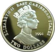 2 Dollars - Elizabeth II (Duke of Marlborough) – obverse