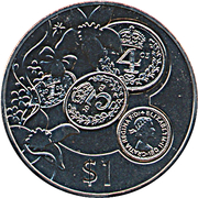 1 Dollar - Elizabeth II (Pre-Decimal Coinage) – reverse