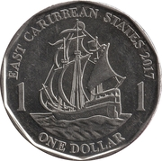 1 Dollar - Elizabeth II (4th portrait; magnetic) – reverse