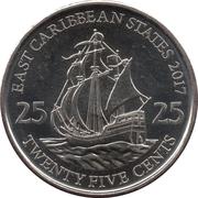 25 Cents - Elizabeth II (4th portrait; magnetic) – reverse