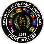 8 Dollars - Elizabeth II (OECS Economic Union) -  obverse