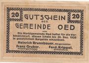 20 Heller (Oed) -  obverse
