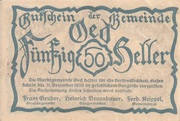 50 Heller (Oed) -  obverse
