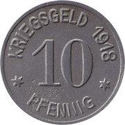 10 pfennig - Oels (Kaufmännischer Verein) -  obverse