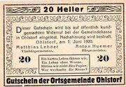 20 Heller (Ohlstorf) -  obverse