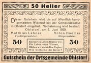 50 Heller (Ohlstorf) -  obverse