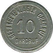 10 Pfennig - Ohrdruf (Gefangenenlager) – obverse