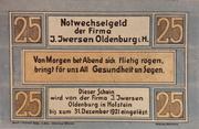 25 Pfennig (I. Iwersen) – obverse