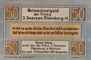 50 Pfennig (I. Iwersen) – obverse